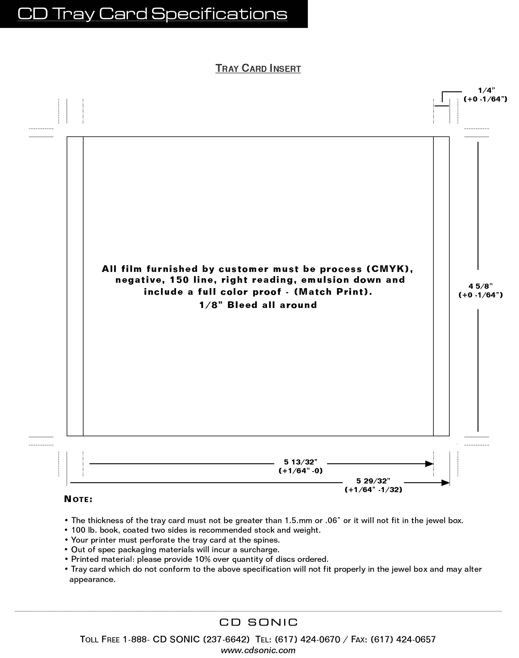 CD Sonic - Forms u0026 Templates - Audio cd duplication, manufacturing ...